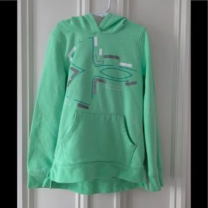 Under Armour mint green hoodie M